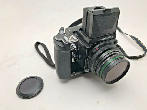 Bronica ETRS 645 medium format camera with Waist Level Finder 75mm E lens and 15
